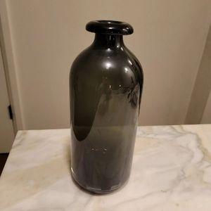 NWT Black Glass  Vase